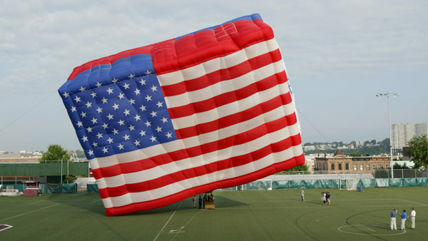 American Flag Balloon (Photo: AP)