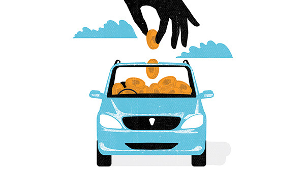 Your clients' car insurance premiums may be based on more than just the number of accidents they've had. (Illustration: Neil Webb/The Ispot.com)