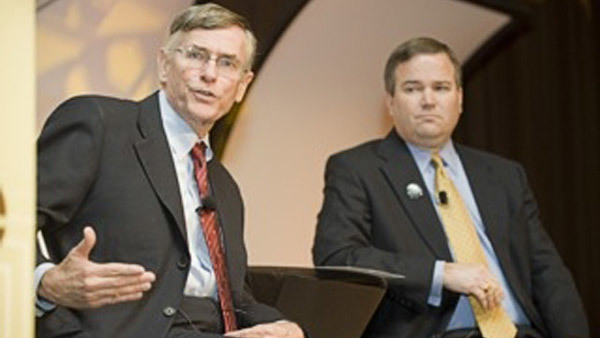FINRA CEO Richard Ketchum, left, with Financial Services Institute CEO Dale Brown.