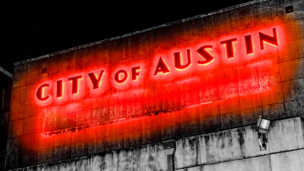 City of Austin Road Sign.