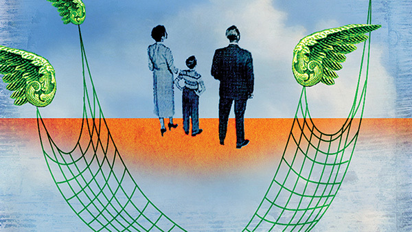 Family offices that don't focus on HNW clients' insurance needs neglect significant risks. (Illustration: Brian Stauffer/Theispot.com)