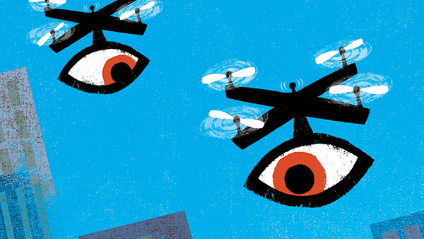 Yesterday's helicopter parents have raised 'drone parents,' who are further away but still watching. (Illustration: Jing Jing Tsong/Theispot.com)