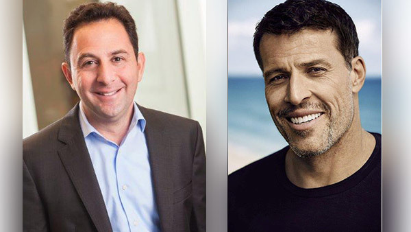Peter Mallouk, CIO of Creative Planning, and Tony Robbins, the wealth management firm's Chief of Investor Psychology.