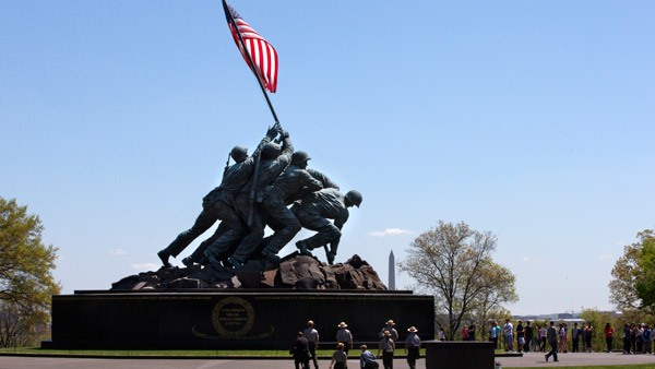 U.S. Marine Corps War Memorial in Arlington, VA. (Photo: AP)