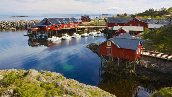 Fishing village in Norway.