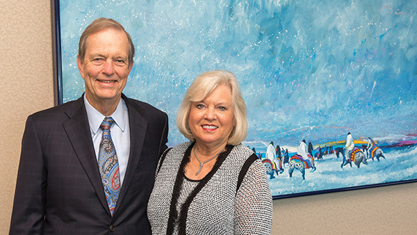 Raymond James Executive Chairman and philanthropist Tom James and his wife Mary.