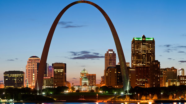 The Gateway Arch in St. Louis.