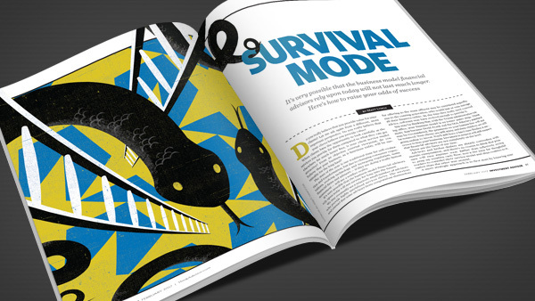 RIAs' business models are threatened by three C's. (Illustration: Neil Webb/theispot.com)