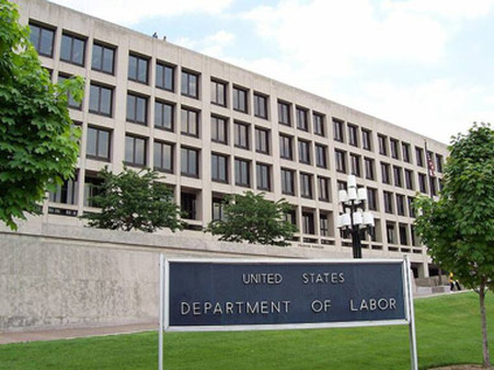 Labor Department headquarters in Washington.