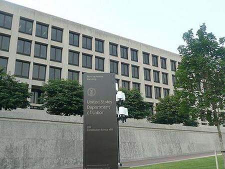Department of Labor headquarters in Washington.