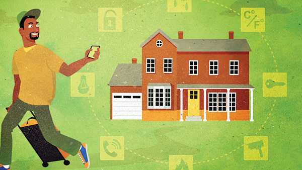 There are practical steps HNW clients can take to protect their homes while they're away.