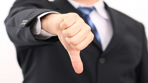 Thumbs down (Image: Thinkstock)