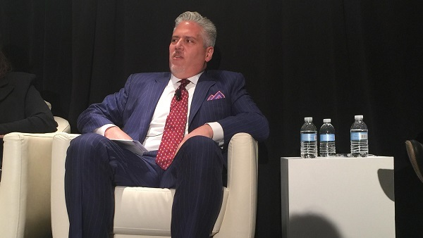 John Nadel talked about insurers' assumptions Wednesday at an S&P conference session in New York. (Photo: Allison Bell/TA)