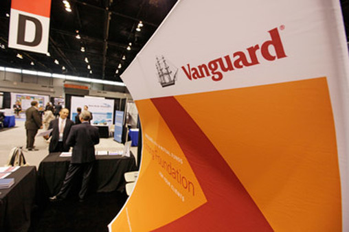A Vanguard booth at an industry conference (Photo: AP)