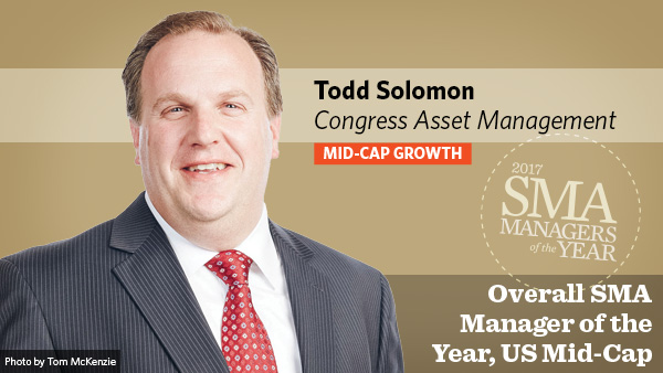 Todd Solomon, Congress Asset Management, Overall SMA Manager of the Year, US Mid-Cap Mid-Cap Growth