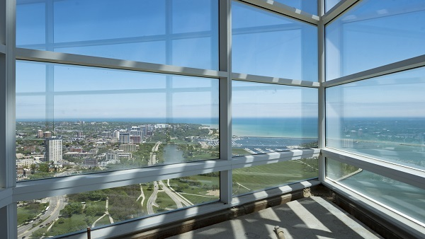 Northwestern Mutual workers can look out at Lake Michigan from the windows on the new company tower's 32nd floor. (Photo: Northwestern)