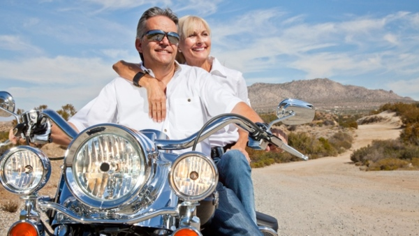 Couple on a motorcycle (Photo: Thinkstock)
