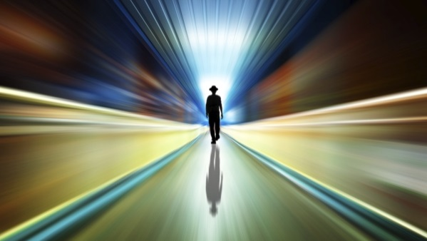Man heading into the future (Image: Thinkstock)