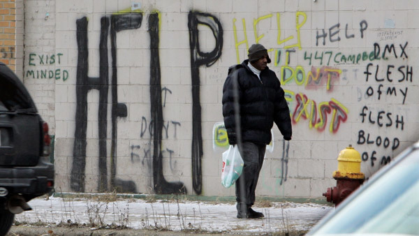 A wall in Detroit. (Photo: AP)