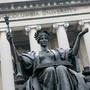 Alma Mater statue at Columbia University in New York. (Photo: AP)