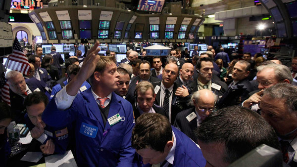 One of many frantic days on the New York Stock Exchange. (Photo: AP)