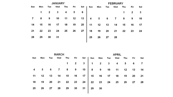 2018, January to April (Image: Anna Frodesiak/Wikimedia Commons PD)