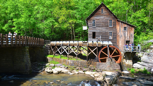 The Old Grist Mill in Babcock State Park.
